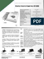 Espectrofotómetro S1200