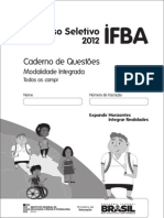 Prova do IFBA 2012