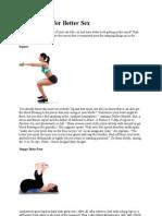 10 Exercises for Better Sex