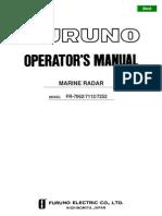 FR7062 7112 7252 Operator's