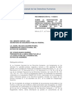 Recomendación y Anexo CNDH Ayotzinapa