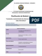 Planificación Módulo 1.1 1A TIC