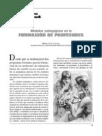 Modelos Pedagogicos en La Formacion de Profesores[1]