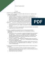 Tópicos Do Exame de Direito Constitucional I