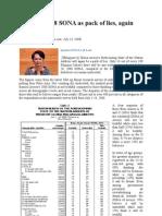 Arroyo's 2008 SONA as Pack of Lies, Again