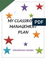 My Classroom Management Plan 2010