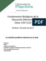 clase 1 Fundamentos Biológicos de la Educación Diferencial