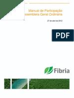 Fibria_Manual de Participacao Em Assembleia