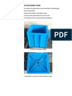 Demoulding of Concrete Cubes From Plastic m