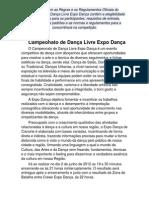 Regulamento do Campeonato de Dança Livre