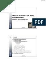 Tema 1 - Introduccion a Los Automatismos