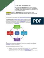 ESTIMOLOGÍA DE LA PALABRA ADMINISTRACION