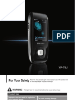 SAMSUNG MP3 YP-T9 Manual