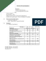 Informe Psicopedagógico I