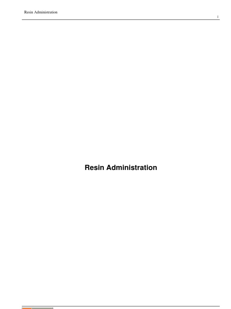 Resin 4 0 Admin | Computer Networking | System Software