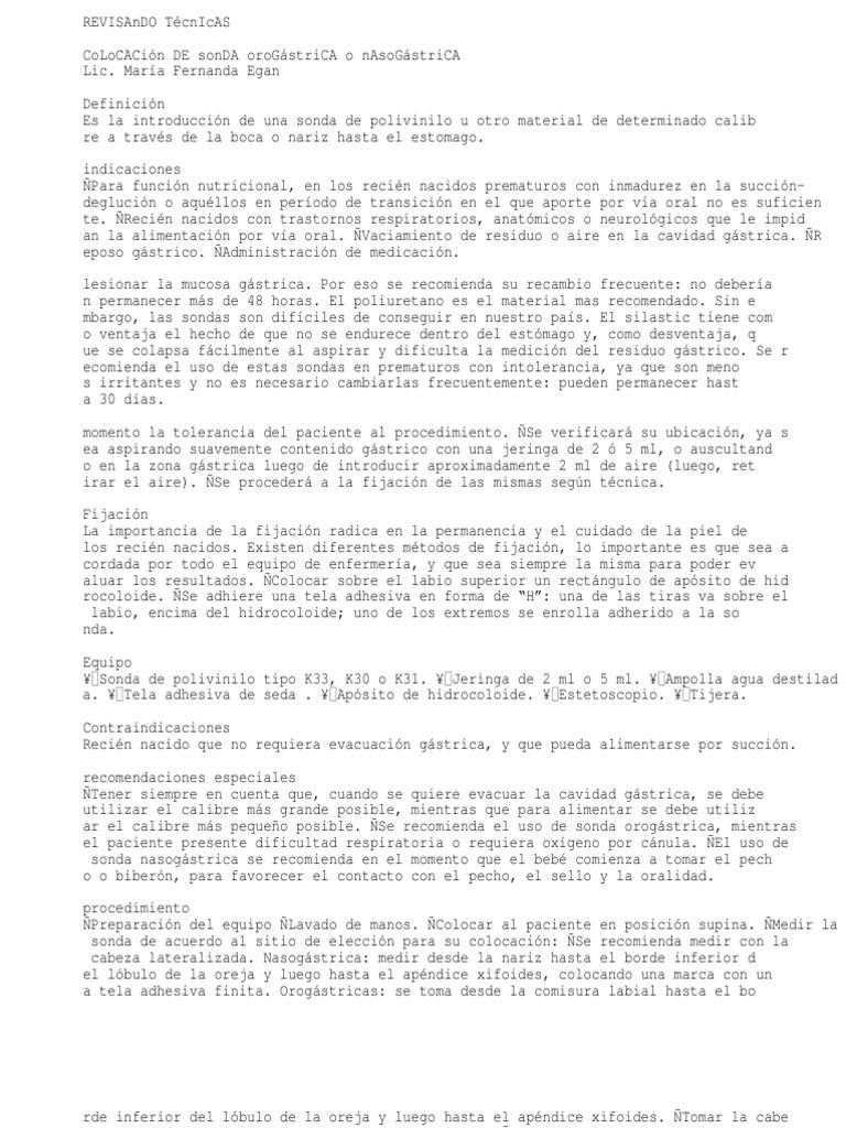 57497071 Sonda Orogastrica o Nasogastrica en Neonatos