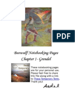 Beowulf Note Booking Pages- Chapter 1