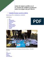 El rapto y el asesinato de mujeres prolifera en el Estado de México