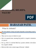 Attitudes Beliefs Values Ppt @ Bec Doms Bagalkot Mba 1