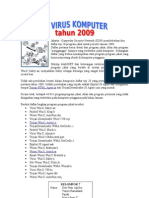 20 Virus Komputer Tahun 2009