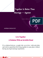 Live Together vs Marriage