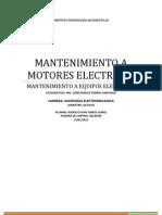 Unidad 2  Mantenimientos a Motores Eléctricos