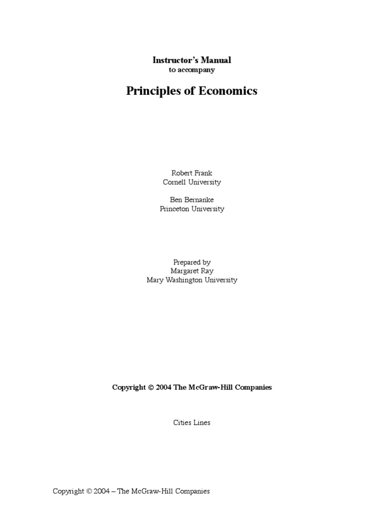 principles of economics economics microeconomics rh scribd com Instructors Manuals for Textbooks Water Safety Instructors Manual PDF
