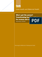 MDG 4 5 Child + Maternal Health