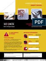 Lojack Early Warning Owners Manual