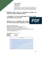 intervencion psicológica online