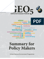 GEO-5 Summary for Policy Makers