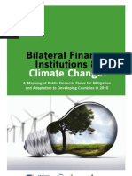 Bilateral Finance Institutions & Climate Change