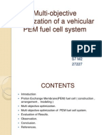 Multi-Objective Optimization of a Vehicular PEM Fuel Cell