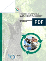 Towards a Life Cycle Sustainability Assessment