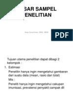 8. BESAR SAMPEL PENELITIAN
