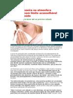 Níveis de poeira na atmosfera ultrapassam limite aconselhável para a saúde