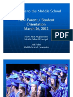Middle School Parent Student Orientation(March 26, 2012)