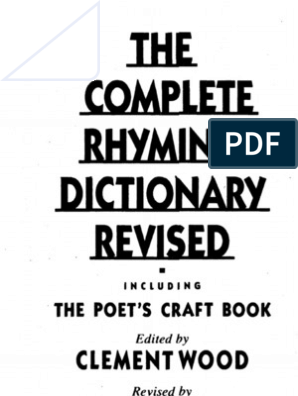 The Complete Rhyming Dictionary | Metre (Poetry) | Poetry