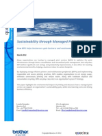 Sustainability through Managed Print Services
