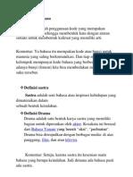 Definisi Bahasa, Sastra, Dan Drama
