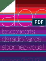 Brochure Saison 2012 2013 Concerts de Radio France