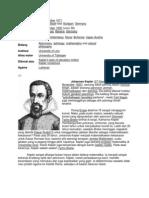 Filsafat Ilmu (Johannes Kepler)