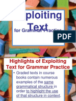 Exploiting Text