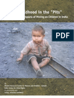 Children and Mining Study India