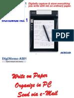 DigiMemo A501 Presentation 2005.01.04