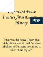 Important Peace Treaties From European History
