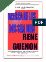 Acerca de Los Dos San Juan Rene Guenon