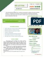 India Sudar News Letter - 2011'December