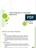 Trait Theory in Consumer Behavior