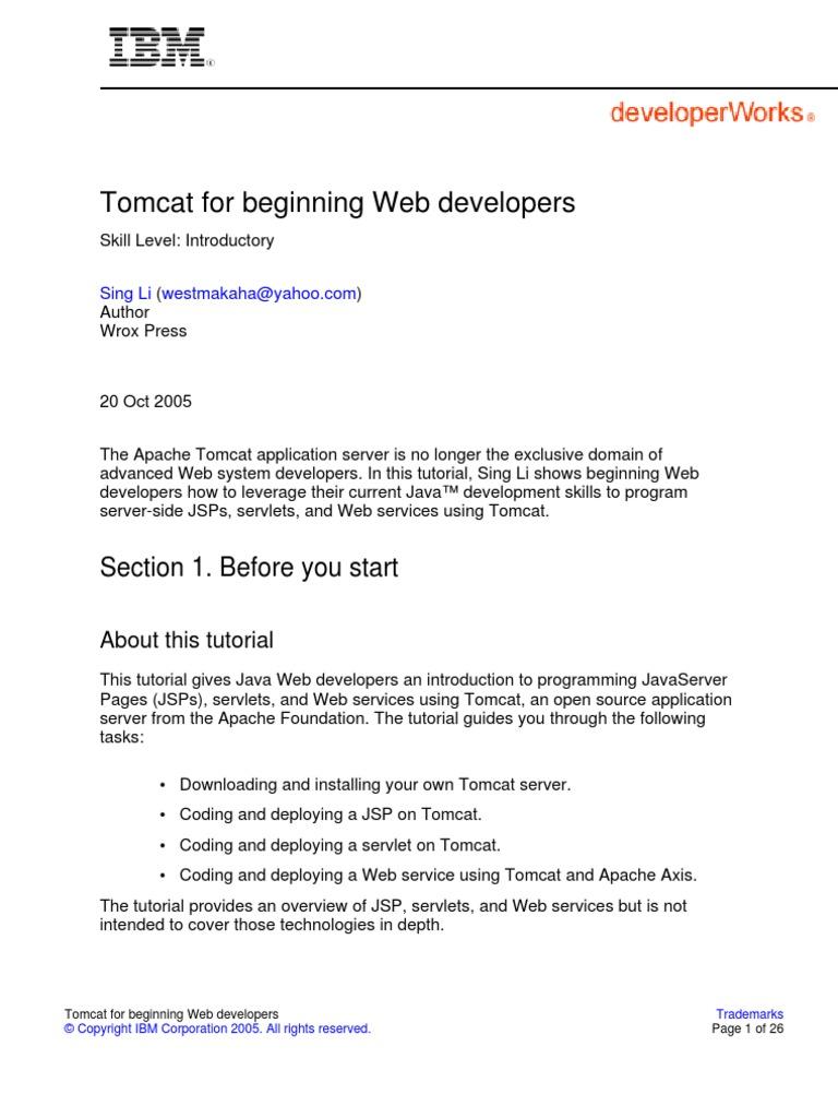 j tomcat pdf (1) | java server pages | java servlet